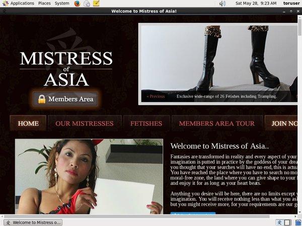Mistressofasia.com Payment Methods