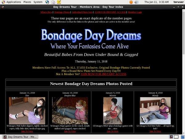 Bondagedaydreams.com Member Login