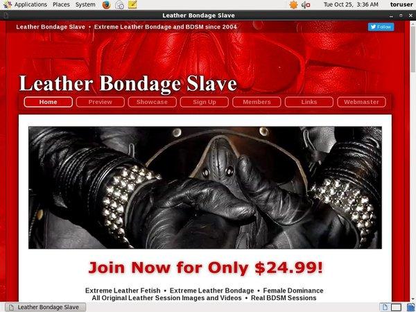 Leatherbondageslave.com Id Password