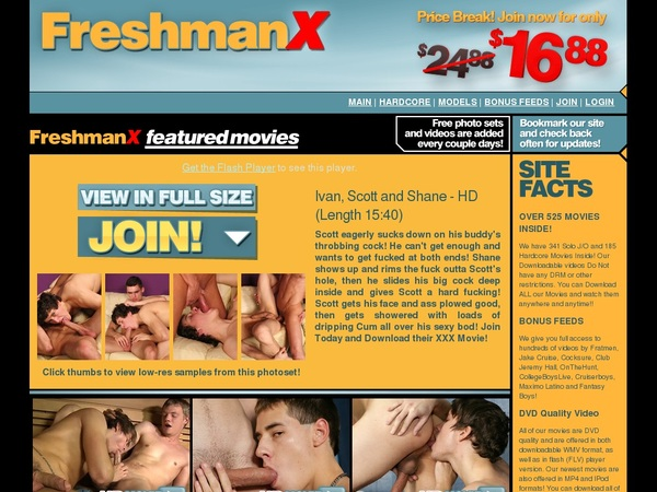 Free Freshmanx Account Logins