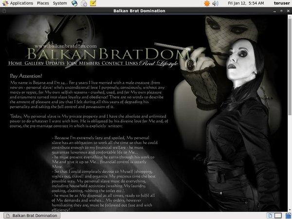 Balkan Brat Dom With Prepaid Card